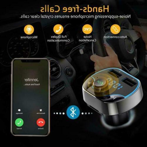 Car Plug FM Radio Charger