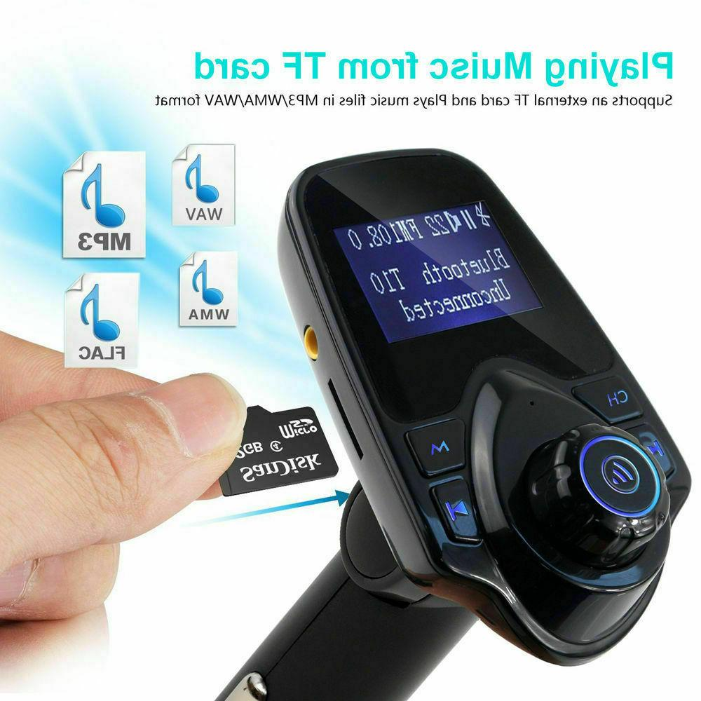 Car Plug FM Transmitter Player Adapter Charger