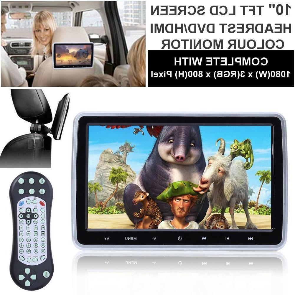 "10"" HD Car DVD Player Headrest Monitor Digitl LCD Screen Gam"