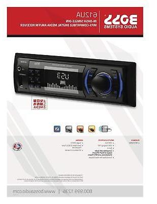 Car Audio 612UA Din, MP3/USB/SD AM/FM