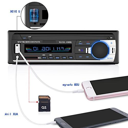 Car Stereo Huicocy Universal Single Din Car MP3 Card/AUX/FM with Remote Control