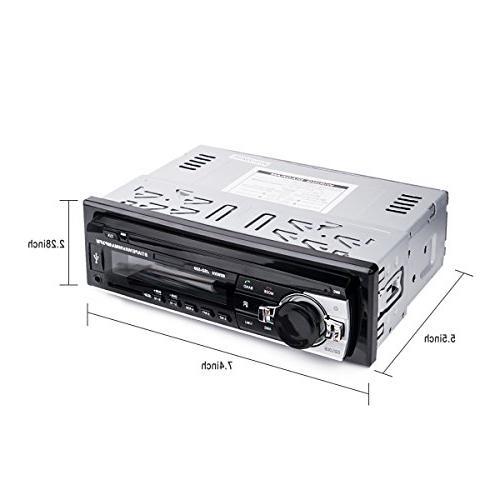 Car Stereo Huicocy Universal in-Dash Single Din MP3 Radio with Remote