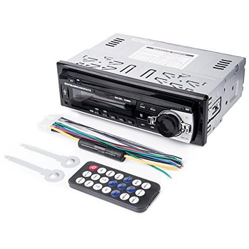 Car Stereo with Huicocy Universal Single Din Car Receiver MP3 Player/USB/SD Card/AUX/FM Radio with