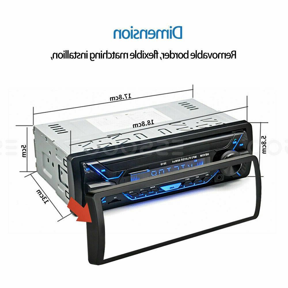 Car MP3 Bluetooth AUX TF FM In-dash V4Z0