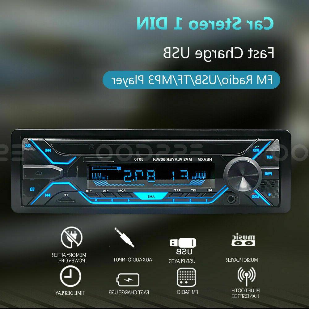 Car Bluetooth AUX USB TF FM Radio In-dash