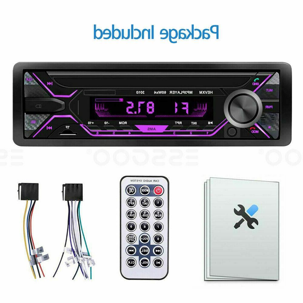 Car Stereo Bluetooth AUX USB TF FM Audio In-dash