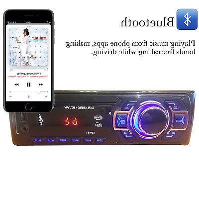 Car Audio Radio Bluetooth FM IN 1 In-Dash