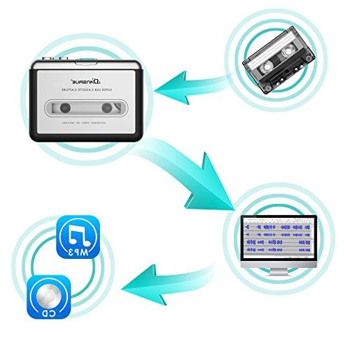 Cassette to Converter, USB Player to MP3 Walkman Audio for PC Laptop Mac