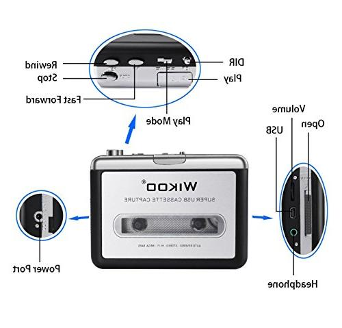 Cassette MP3 USB Cassette Player with Portable Cassette to