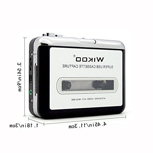 Cassette to USB Cassette Player with Earphone, Cassette Converter to