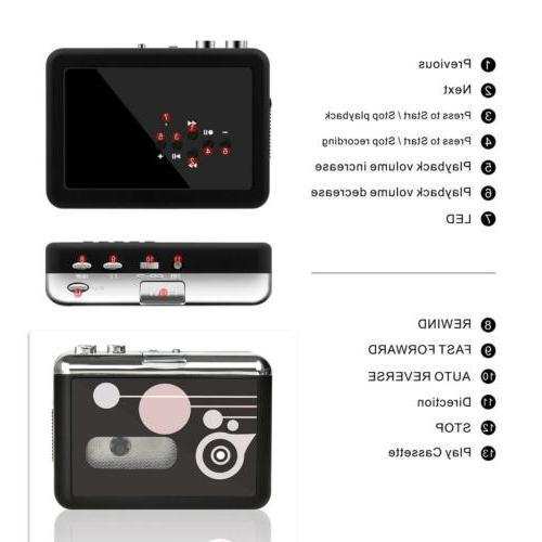 Cassette to MP3 Converter Player Digital USB