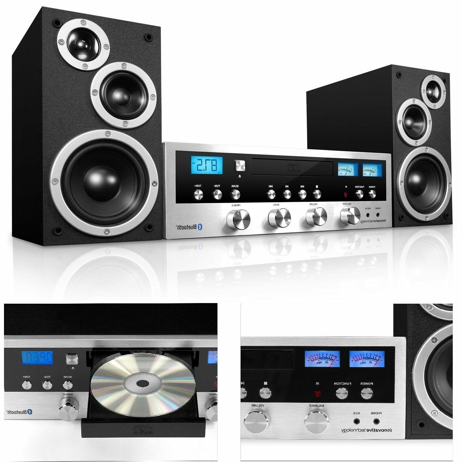 CD Bluetooth Stereo System Home Speaker CD Player FM Radio J
