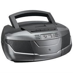 CD Boom Box with AM/FM Radio & Cassette Player