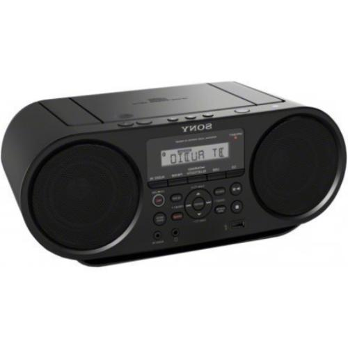 cd boombox with bluetooth and nfc black