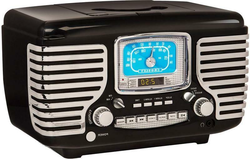 Crosley Cr612D-Bk Am/Fm Alarm Clock Radio With Cd Player And