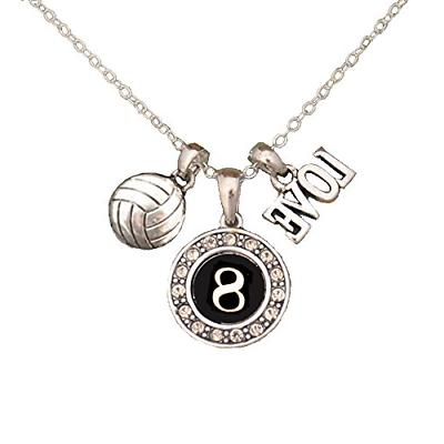 custom player id volleyball necklace 8 one