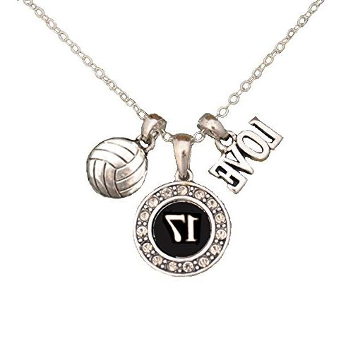 custom player id volleyball necklace