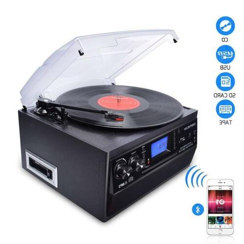 digitnow 3 speed bluetooth record player turntable