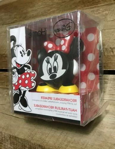 iHome Disney Minnie Mouse Rechargeable Speaker Player Smartphones NIB