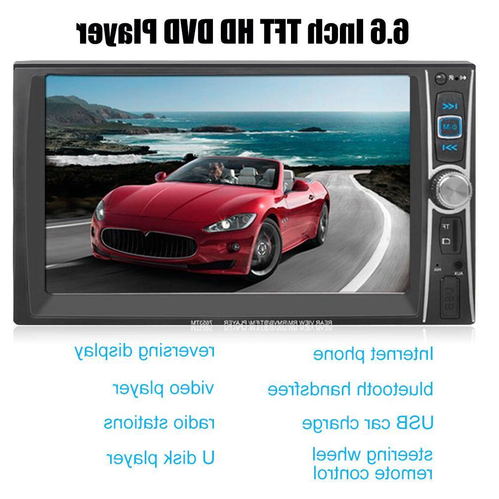 Double 2Din Car Stereo MP3/5 HD In Dash TV FM