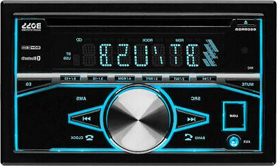 double din cd mp3 player bluetooth black