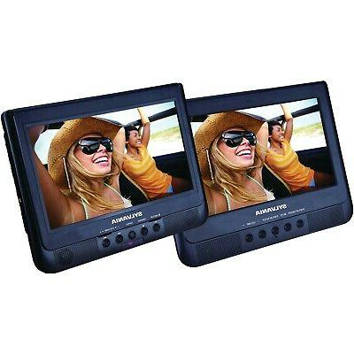 dual portable dvd media player