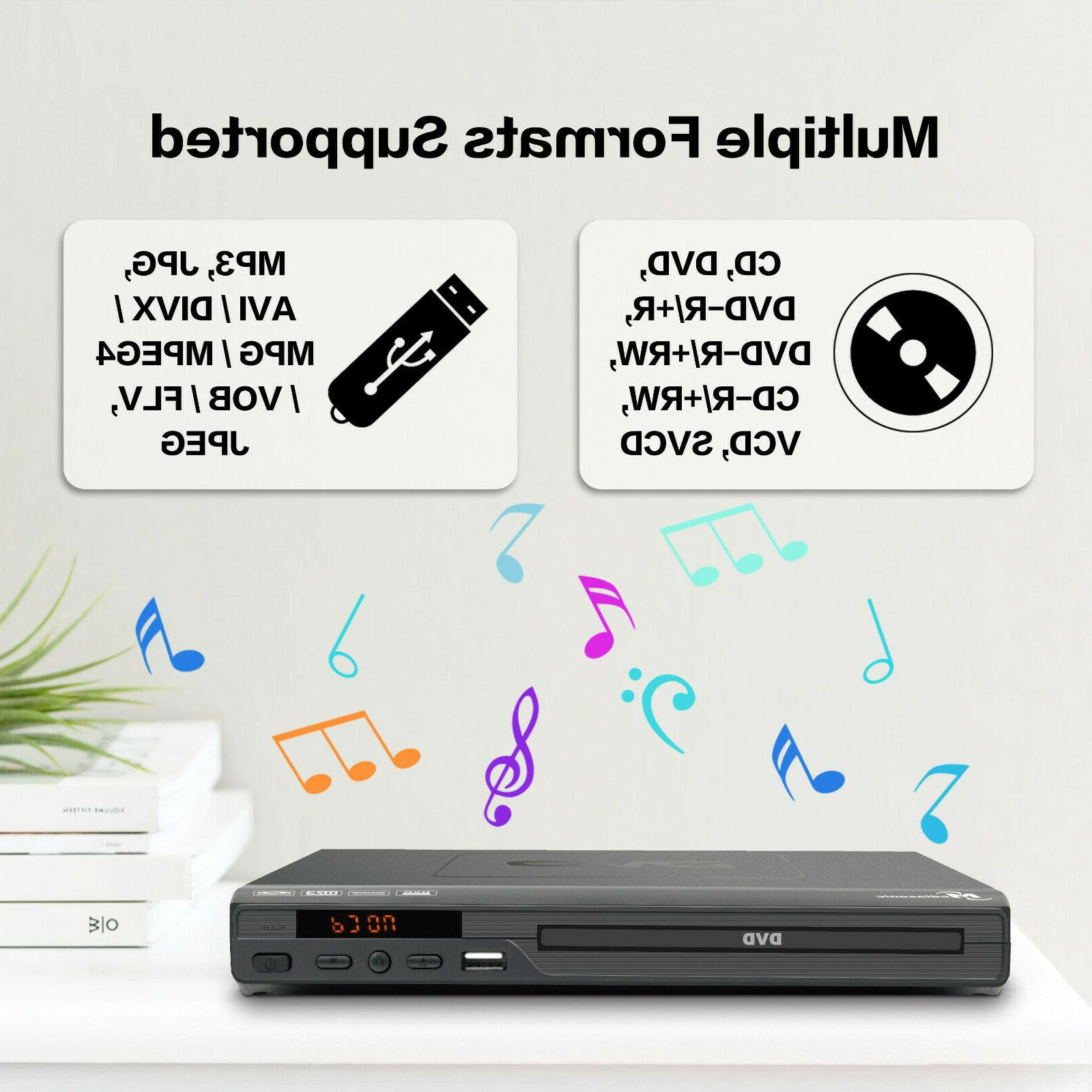 Mediasonic DVD Player 1080P DVD Player w/ AV output