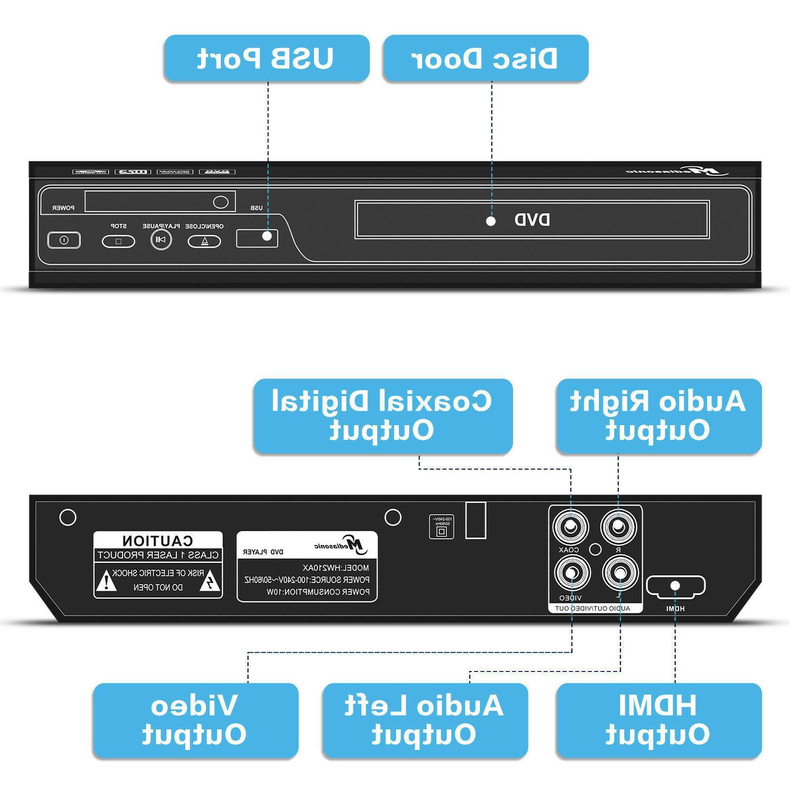 Mediasonic DVD Player - 1080P DVD