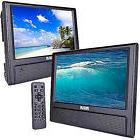 "9"" DVD Player Dual Screen LCD Monitor TV Screen Travel Car V"