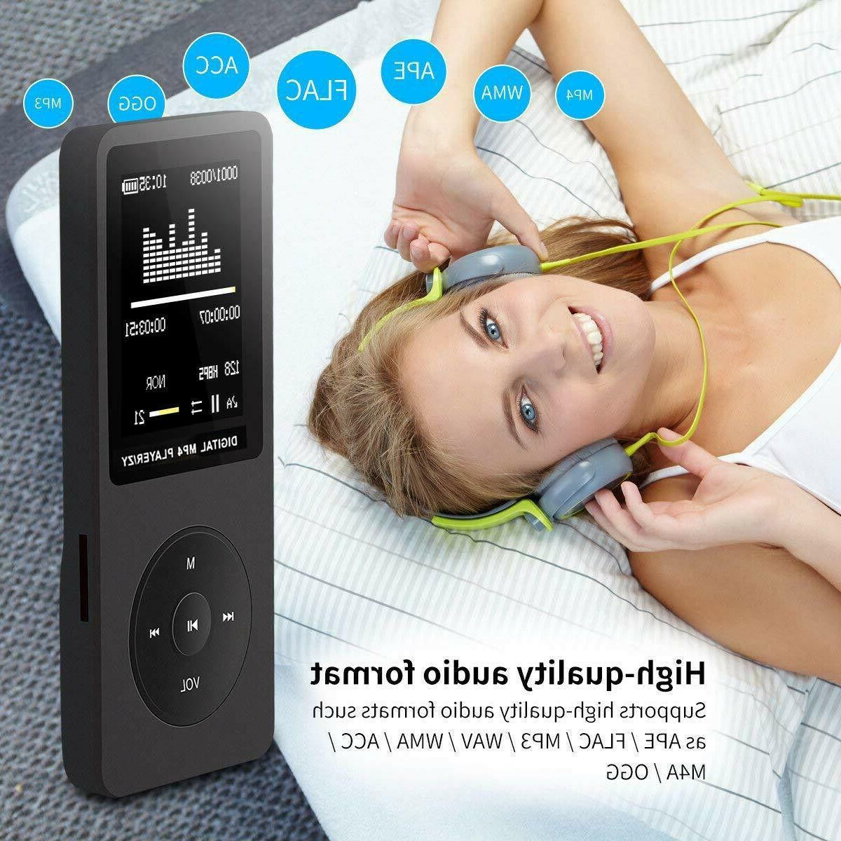Fashion Portable HiFi MP3 Screen Support TF Card