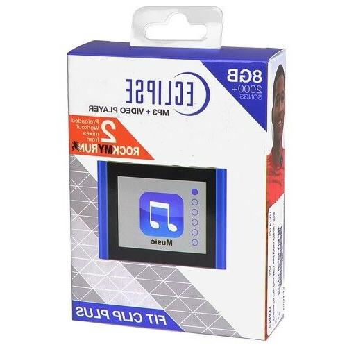 "Eclipse Fit 8GB 1.8"" MP3 Digital & Pedometer"