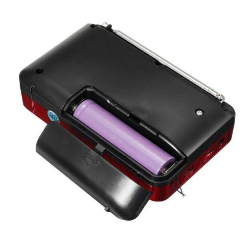 FM Mini Radio LCD with LED Light