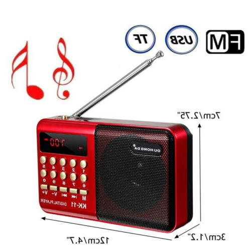 LCD Speaker MP3 Player AUX with LED