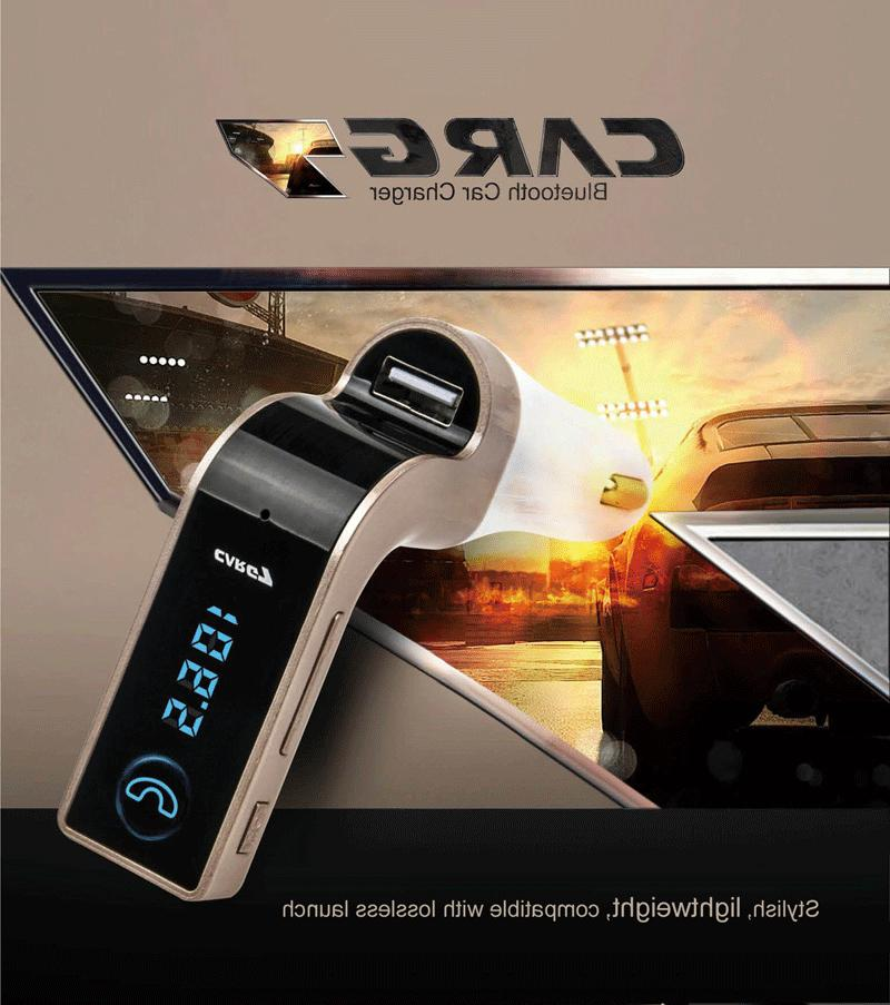 Handsfree G7 For Car Kit FM Transmitter Radio Player