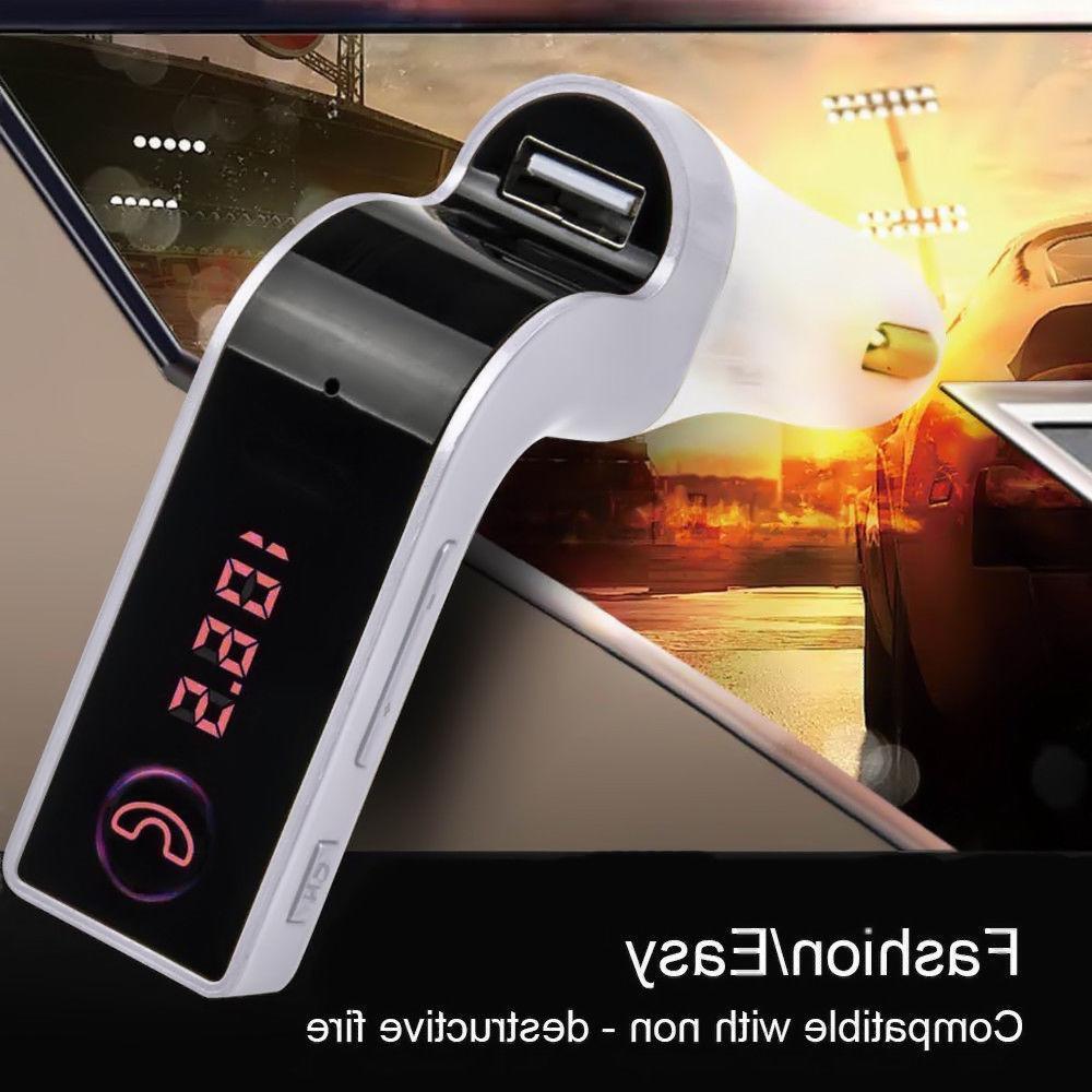 Handsfree G7 Bluetooth Car Kit FM Transmitter Player