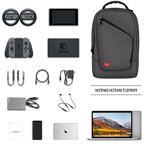VORI Gaming Travel Game System Protective Bag for Switch System/PlayStation Slim/Xbox Systems/WII and Accessories, Dark