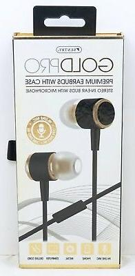9becafb7529 Sentry Gold Pro Metal Earbuds with In-Line Mic & Deluxe Case