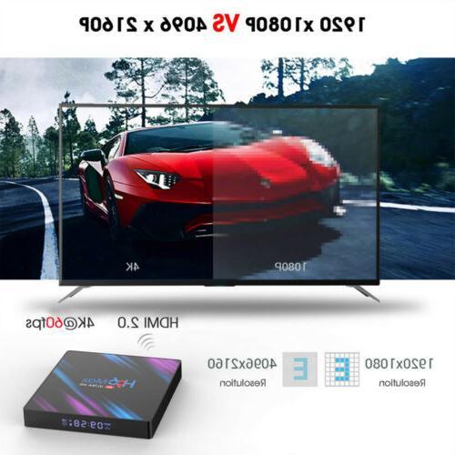 H96 Max Smart TV Quad Core 4K HD 5.8GHz WiFi US