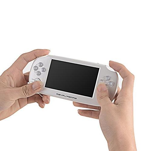 """Handheld Console, Loyalfire Game with 4.3"""" 64-bit Lights 8GB System Supports Multiple for Birthday Gifts for Kids"""