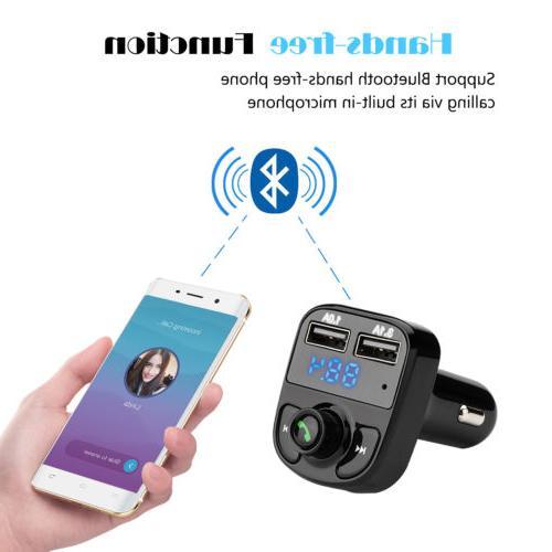 Handsfree Car Kit FM MP3 Player QC3.0