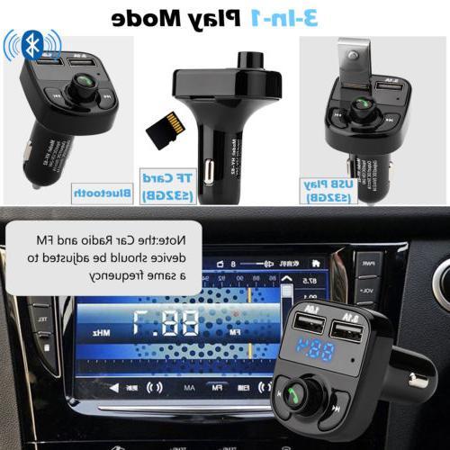 Handsfree FM Player USB QC3.0