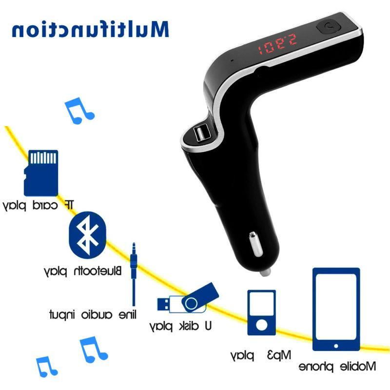 Wireless Car Kit AUX Radio USB Port