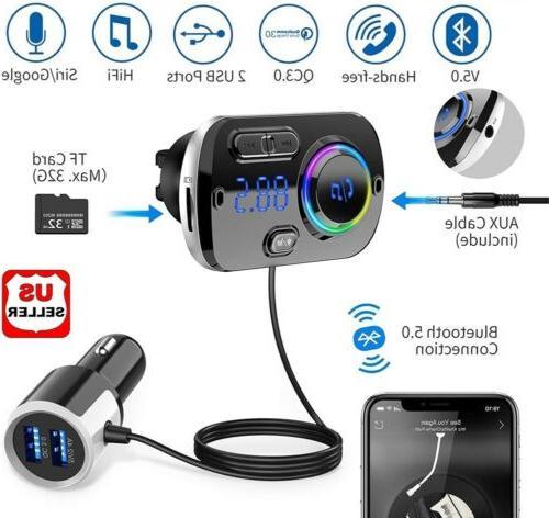 handsfree wireless bluetooth fm transmitter car kit