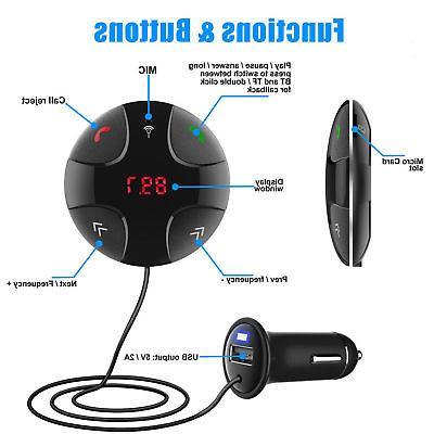 Handsfree Bluetooth FM Transmitter Player with USB