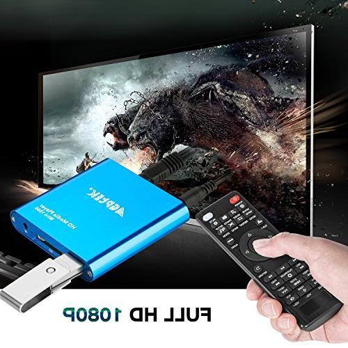 HDMI Mini 1080p HDMI Digital Media for -MKV/RM- USB Drives SD Cards
