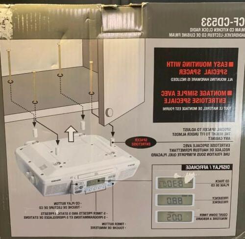 Sony ICF-CD533 Under Cabinet Kitchen CD Clock