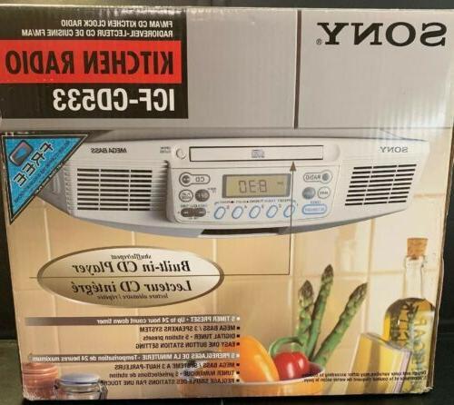 icf cd533 under cabinet kitchen radio cd