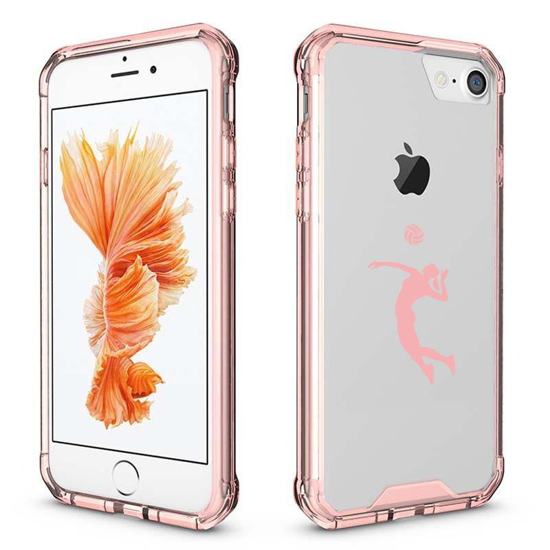 For iPhone X 6 6s 7 8 Plus Clear Shockproof Case Cover Femal