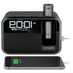 iHome Kineta Dual Charging Alarm Clock Radio with Portable P