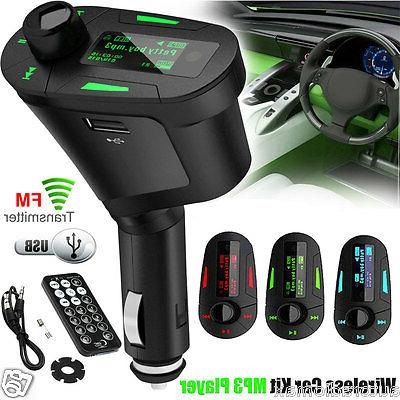 lcd car kit mp3 player fm transmitter